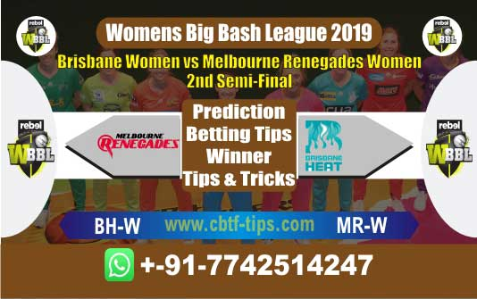 BHW vs MRW Semi Final Womens Big Bash Match Betting Tips - CBTF