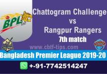 CCH vs RAN 7th BPL T20 100% Fixed Match Reports Betting Tips CBTF