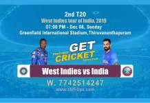 Ind vs WI 2nd T20 West Indies tour of India Match Reports Betting Tips