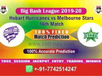MLS vs HOB Big Bash League 2020 16th Match Fixed Cricket Betting Tips