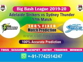SYT vs ADS Big Bash League 2020 17th Match Fixed Cricket Betting Tips