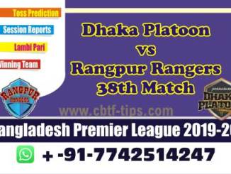 RAN vs DHP Bangladesh Premier League 38th Match Sure Betting Tips