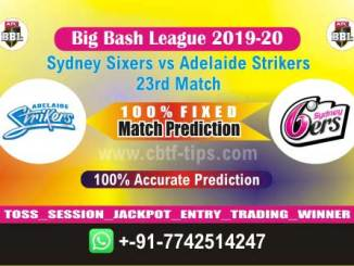 SYS vs ADS Big Bash League 2020 23rd Match Real Fixed Betting Tips