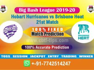 HOB vs BRH Big Bash League 2020 21st Match Fixed Cricket Betting Tips