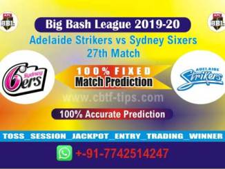 STR vs SIX Big Bash League 27th Match Real Sure Betting Tips