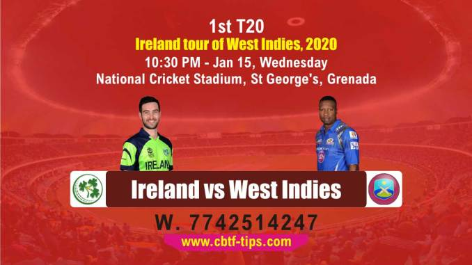 cbtf IRE vs WI match prediction
