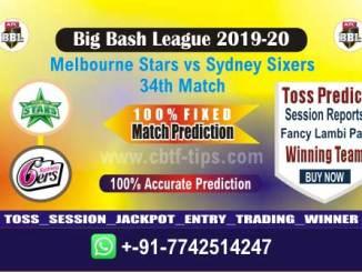cbtf STA vs SIX match prediction