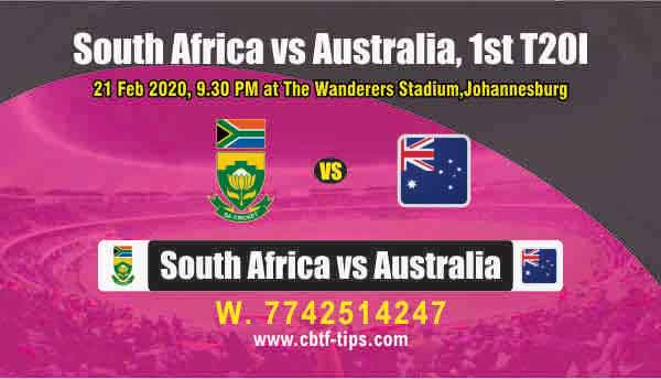 RSA vs AUS 1st International T20 Sure Prediction Betting Tips CBTF Toss
