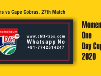 COB vs TIT 27th ODI Sure Winner Prediction cricketbettingtipsfree CBTF