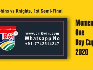 KNG vs DOL Semi Final Momentum ODI Sure Winner Prediction CBTF