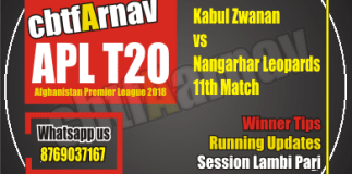 Kabul Zwanan vs Nangarhar Leopards, 11th Match