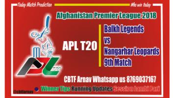 Balkh vs Nangarhar 9th APLT20 CBTF Tips