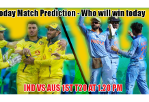 India vs Australia 1st T20 Match Tips.