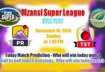 Tshwane Spartans vs Paarl Rocks MSL 2018 4th Match CBTF Tips