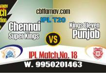 Today IPL Match Prediction CSK vs KXIP 18th 100% Sure Toss Lambi Pari