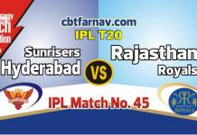 RR vs SRH 2019 Today IPL Match No 45th Prediction 100% sure Win Tips