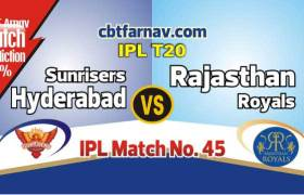 RR vs SRH 2019 Today IPL Match No 45th Prediction 100% sure Win Tips
