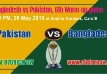 World Cup 2019 PAK vs BAN Warm UP Match Prediction Win Tips Toss
