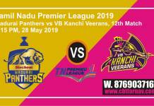 TNPL 2019 MAD vs VBK 12th Match Prediction Today Toss Fancy