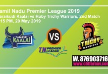 TNPL 2019 2nd Match KK vs RTW Today Prediction Toss Fency