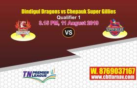 TNPL 2019 Dindigul vs Chepauk Qualifier 1 Match Report Today
