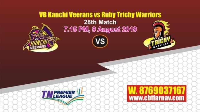 TNPL 2019 RUB vs VBK 28th Match Report Today Toss Lambi Pari