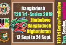 Zim Ban Afg Tri Series Match Prediction Today Report Toss Session Lambi Pari CBTF Tips