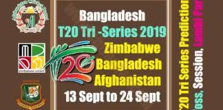Zim Ban Afg Tri Series Match Prediction Today Report Toss Session Lambi Pari CBTF Tips