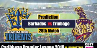 CPL 2019 Trinbago vs Barbados 28th predict for today match Win Tips