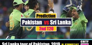 Pakistan vs Sri Lanka 2nd T20 Today Match Prediction Cricket Betting Tips CBTF