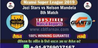 Nelson vs Jozi 8th Match Today Prediction Mzansi 2019 Betting Tips