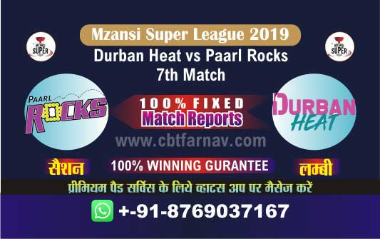 Paarl vs Durban 7th Match Prediction Mzansi 2019 Cricket Betting Tips
