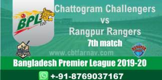 BPL 20 Rangpur vs Chattogram 7th Match Betting Tips & Match Prediction