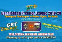 BPL T20 - Khulna vs Chattogram 4th Match Betting Tips & Match Reports