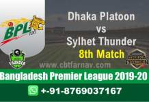 BPL T20 - Sylhet vs Dhaka 8th Match Betting Tips Match Prediction CBTF