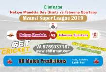 MSL 2019 - Tshwane vs Nelson Eliminator Betting Tips & Match Prediction