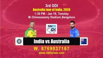 India vs Australia 3rd ODI Cricket Betting Tips Match Prediction Today