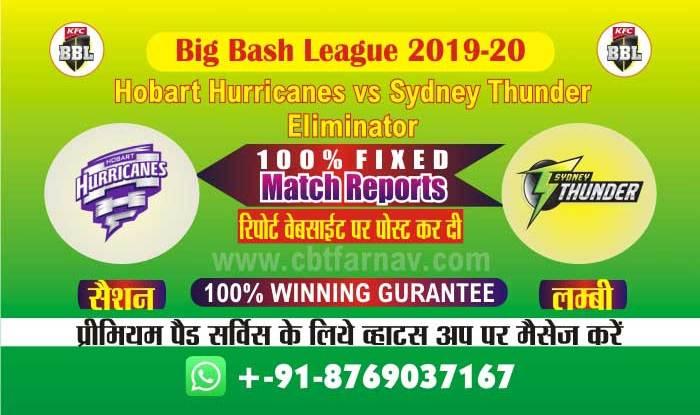 cbtf today match prediction hbh vs syt Big Bash Eliminator