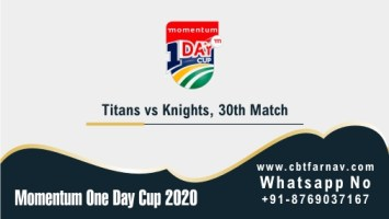 Momentum ODI Match Prediction KTS vs TIT 30th Match Tips Toss Fancy