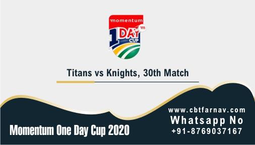 Momentum ODI Match Prediction KTS vs TIT 30th Match Tips Toss Fancy