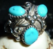 Lovely Navajo sterling ring