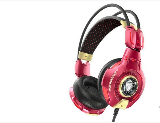 E-BLUE/Yibo THS903 Iron Manusia 3 Musik Headset Headset Komputer Ringan Headphone Stereo Dua Saluran-Internasional