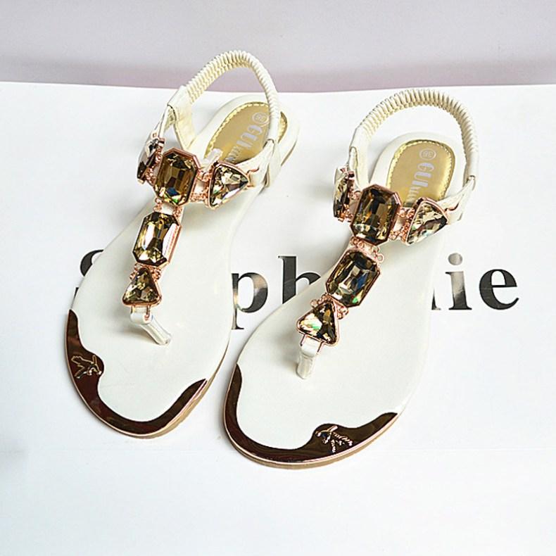 3437652521 1657557736 Woman Sandals 2019 fashion high quality Rhinestone women flip flops shoes ladies casual summer beach shoes