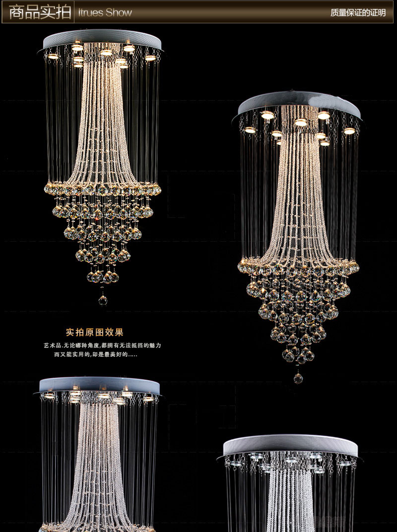 Long Crystal Chandelier Modern Chandelier New Hot Sale