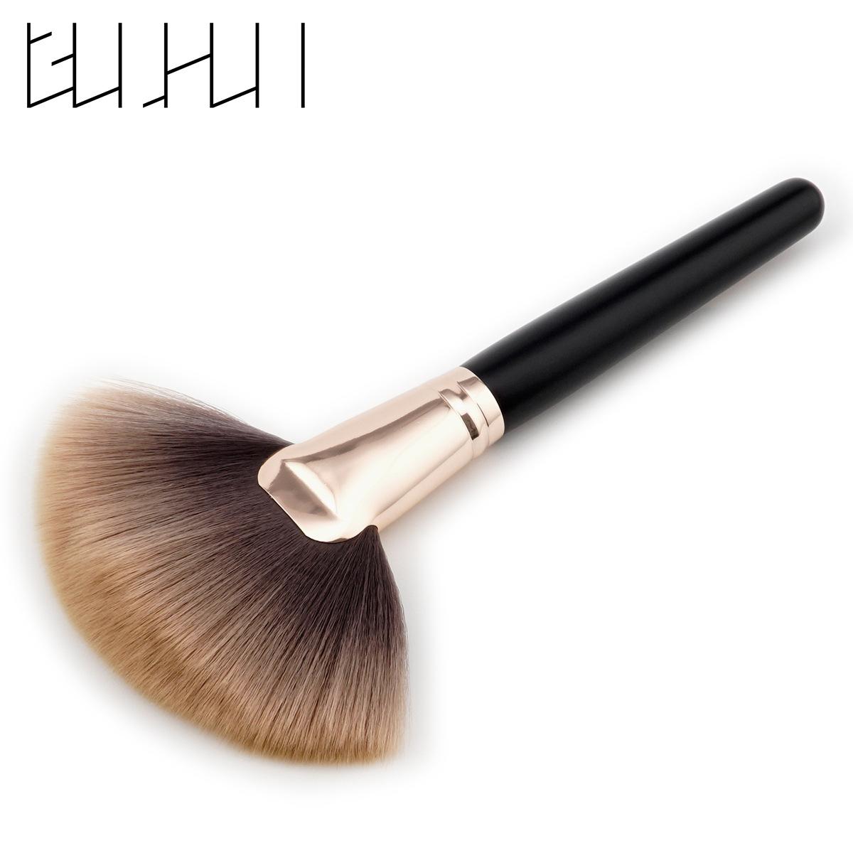 單支化妝刷_單支化妝刷 美妝工具 棕咖毛 散粉刷 扇形刷 高端木柄 GUJHUI - 阿里巴巴
