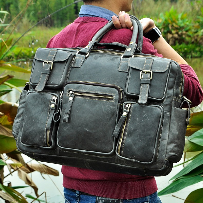 7250074331 2068518898 Original leather Men Fashion Handbag Business Briefcase Commercia Document Laptop Case Design Male Attache Portfolio Bag 3061-bu