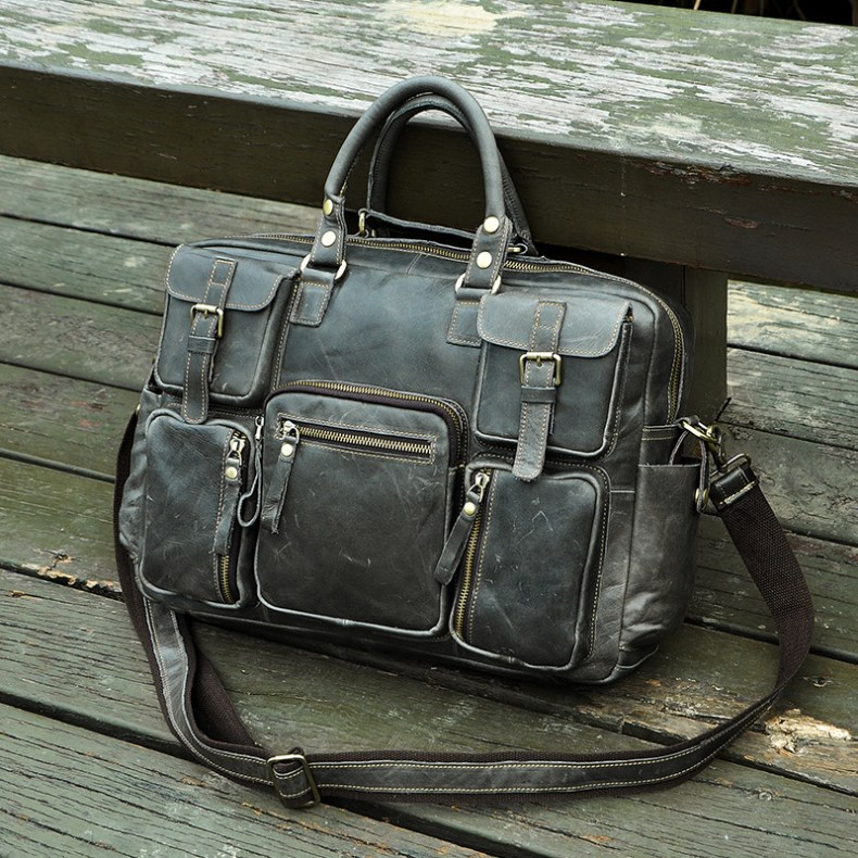7239687902 2068518898 Original leather Men Fashion Handbag Business Briefcase Commercia Document Laptop Case Design Male Attache Portfolio Bag 3061-bu