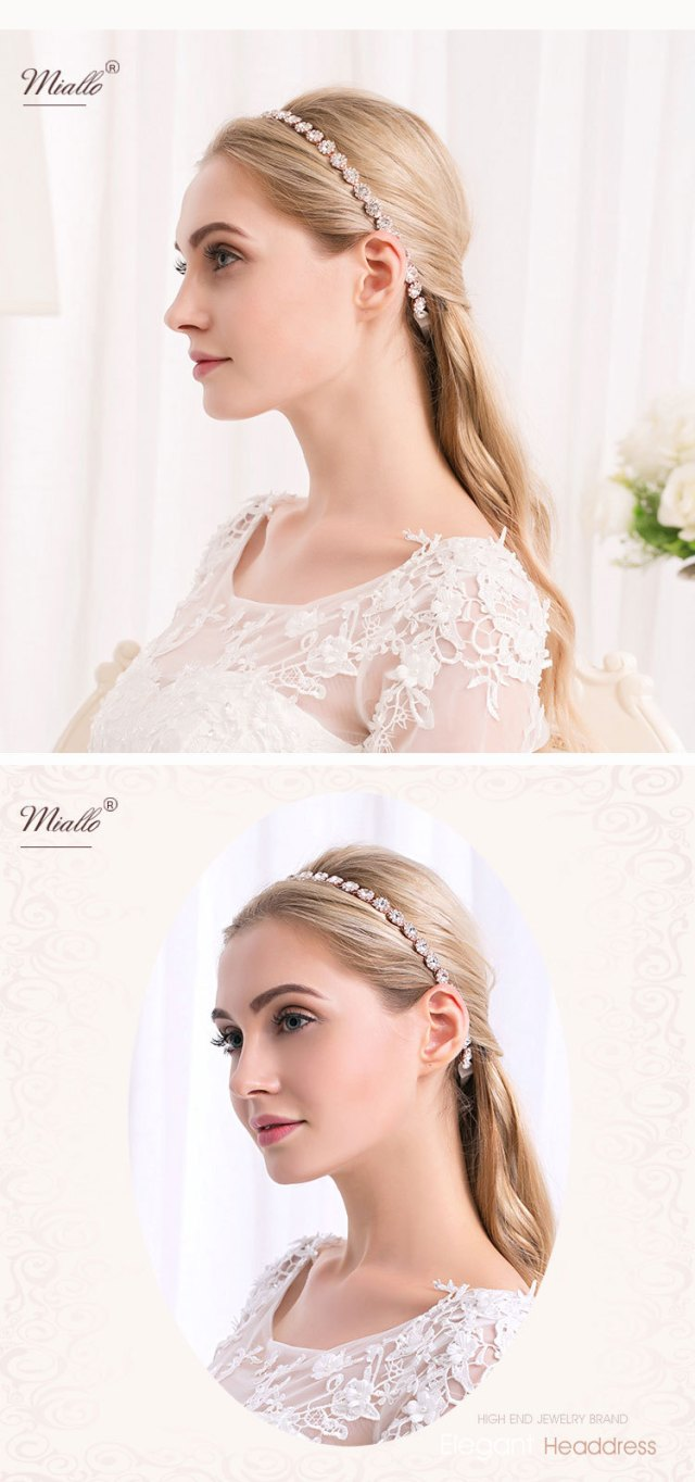 wedding bridal hair accessory rhinestone crystal headband