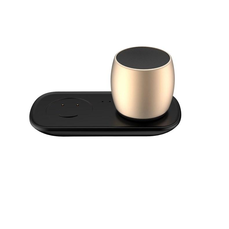 Mini Dual Speaker with Charging Base pink charging dock