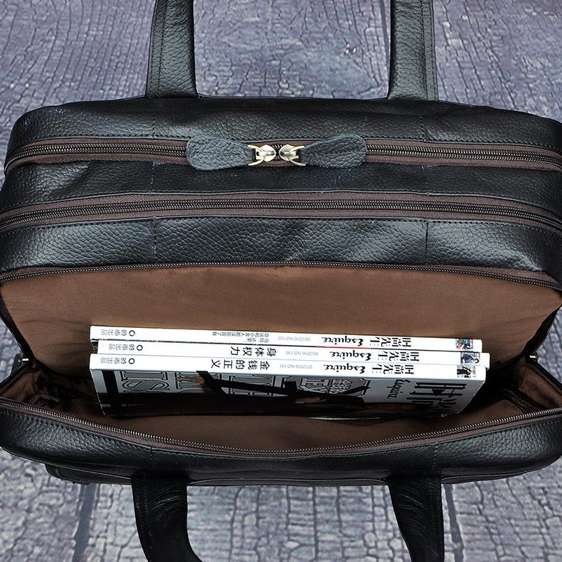 5298229809 2068518898 Men Oil Waxy Leather Antique Design Business Briefcase Laptop Document Case Fashion Attache Messenger Bag Tote Portfolio 7146